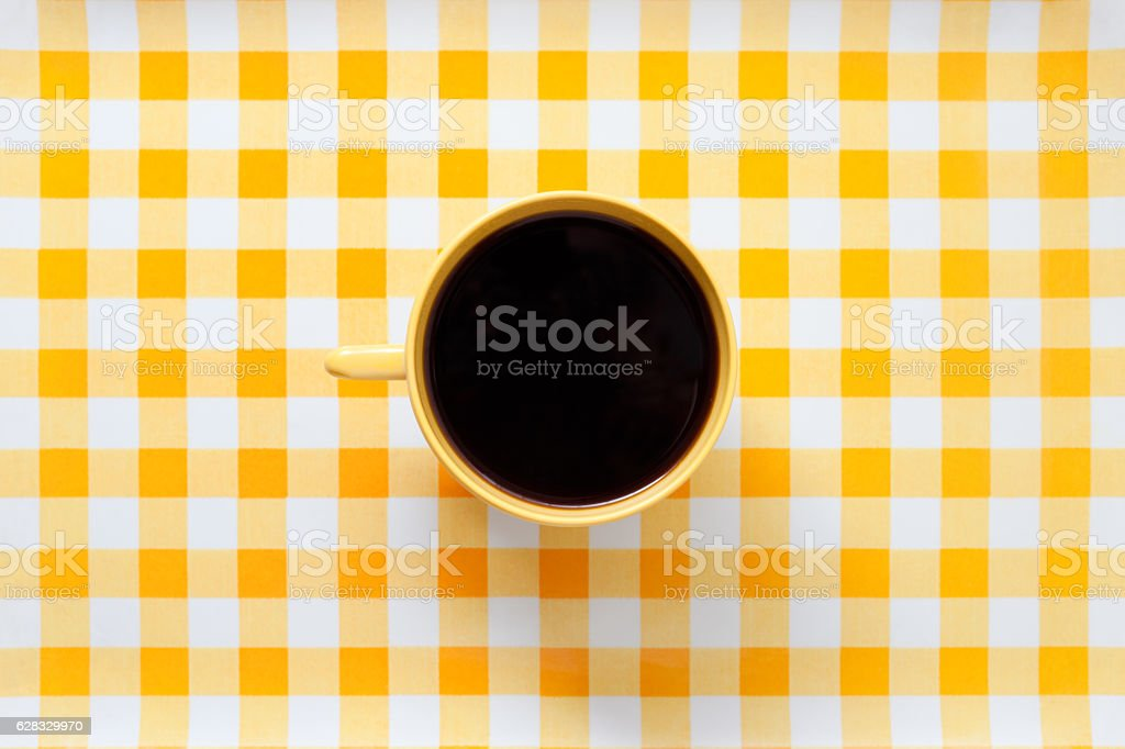Yellow coffee stock photo