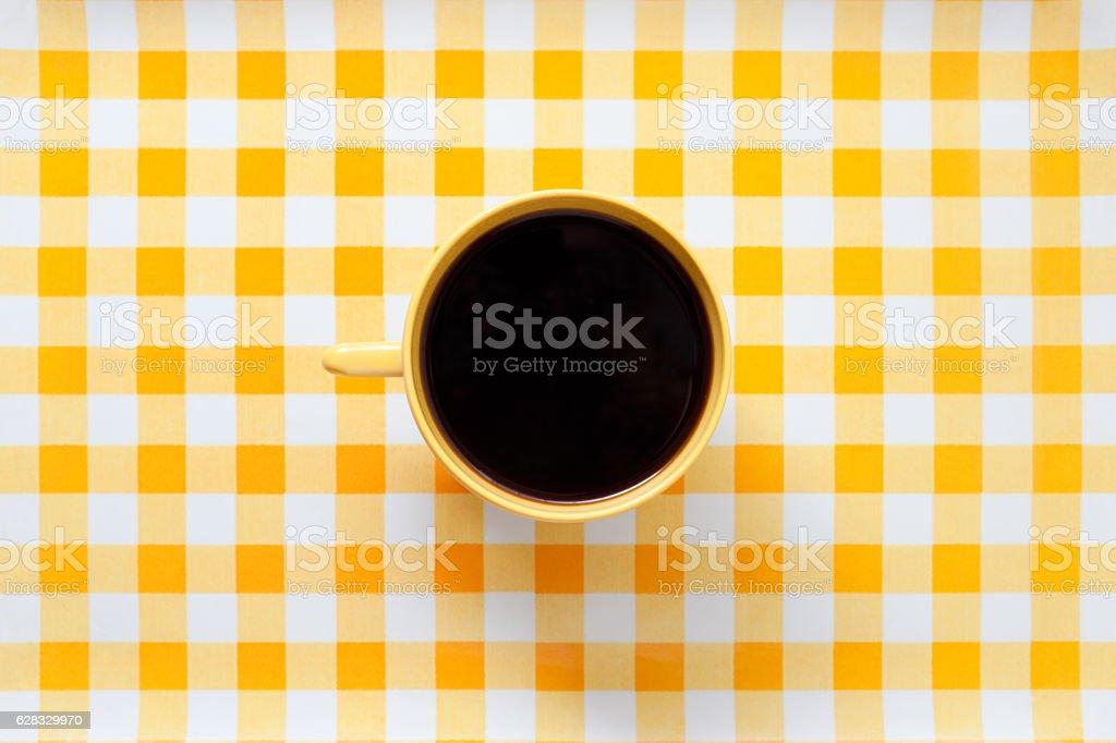 Yellow coffee stock photo