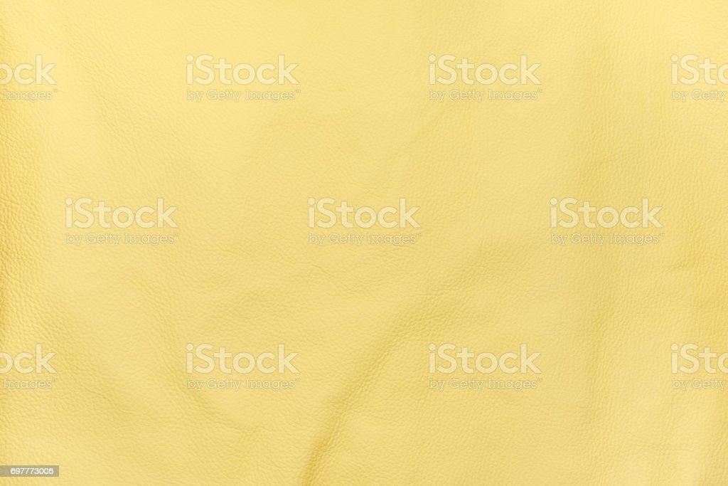 Yellow color leather texture background stock photo