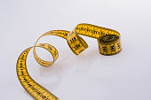 Yellow color measuring tape
