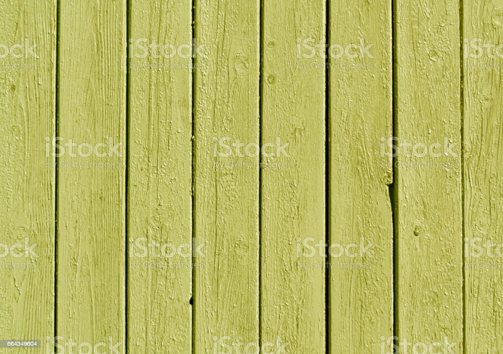 Yellow color wooden fence pattern. stock photo