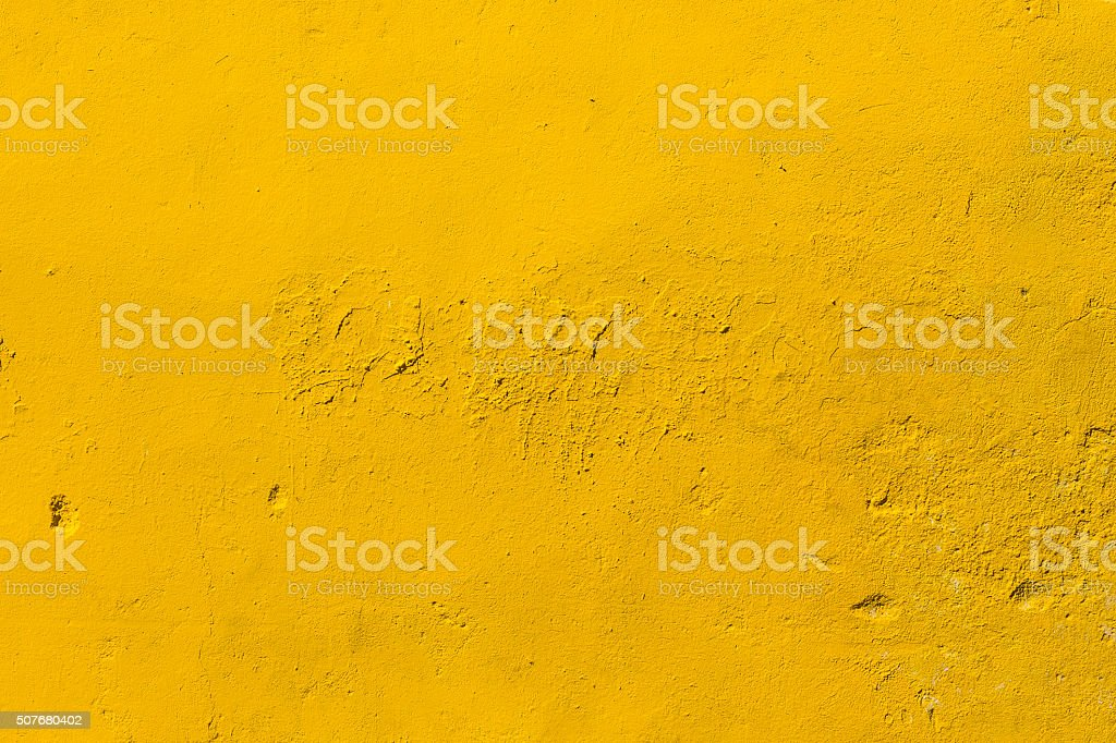 Yellow Concrete Wall stock photo