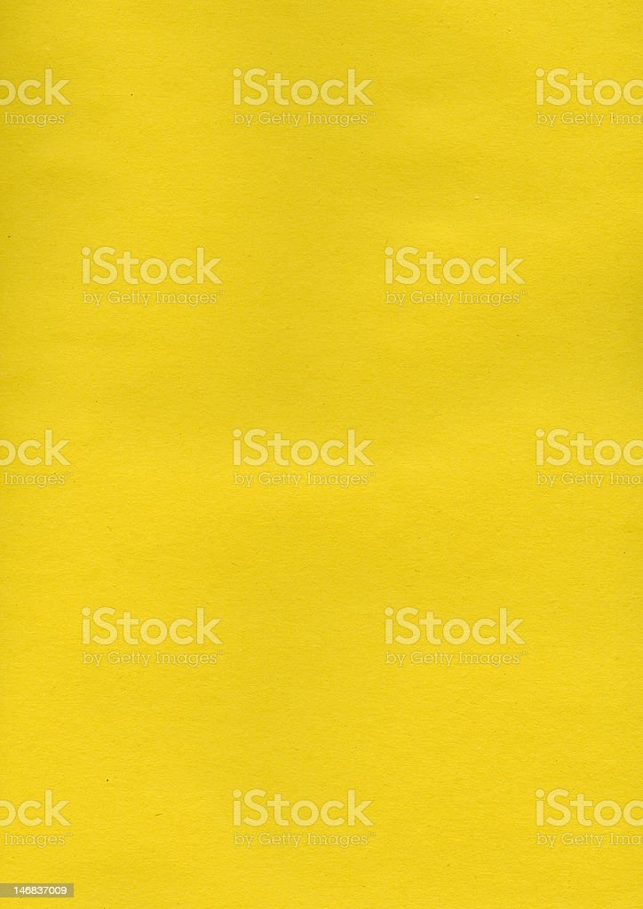 Yellow Construction Paper Textured Background royalty-free stock photo