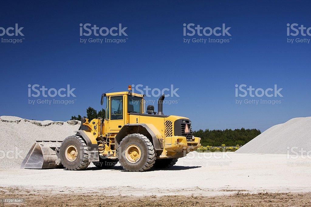 Yellow construction vehicle stock photo