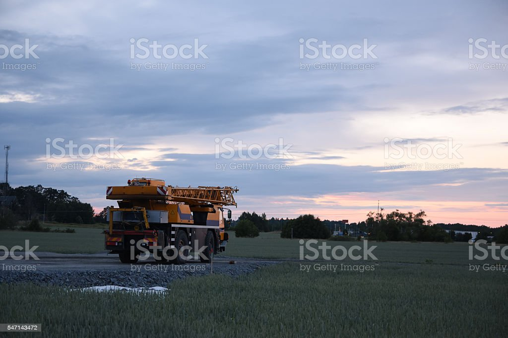 Yellow construction vehicle royalty-free stock photo