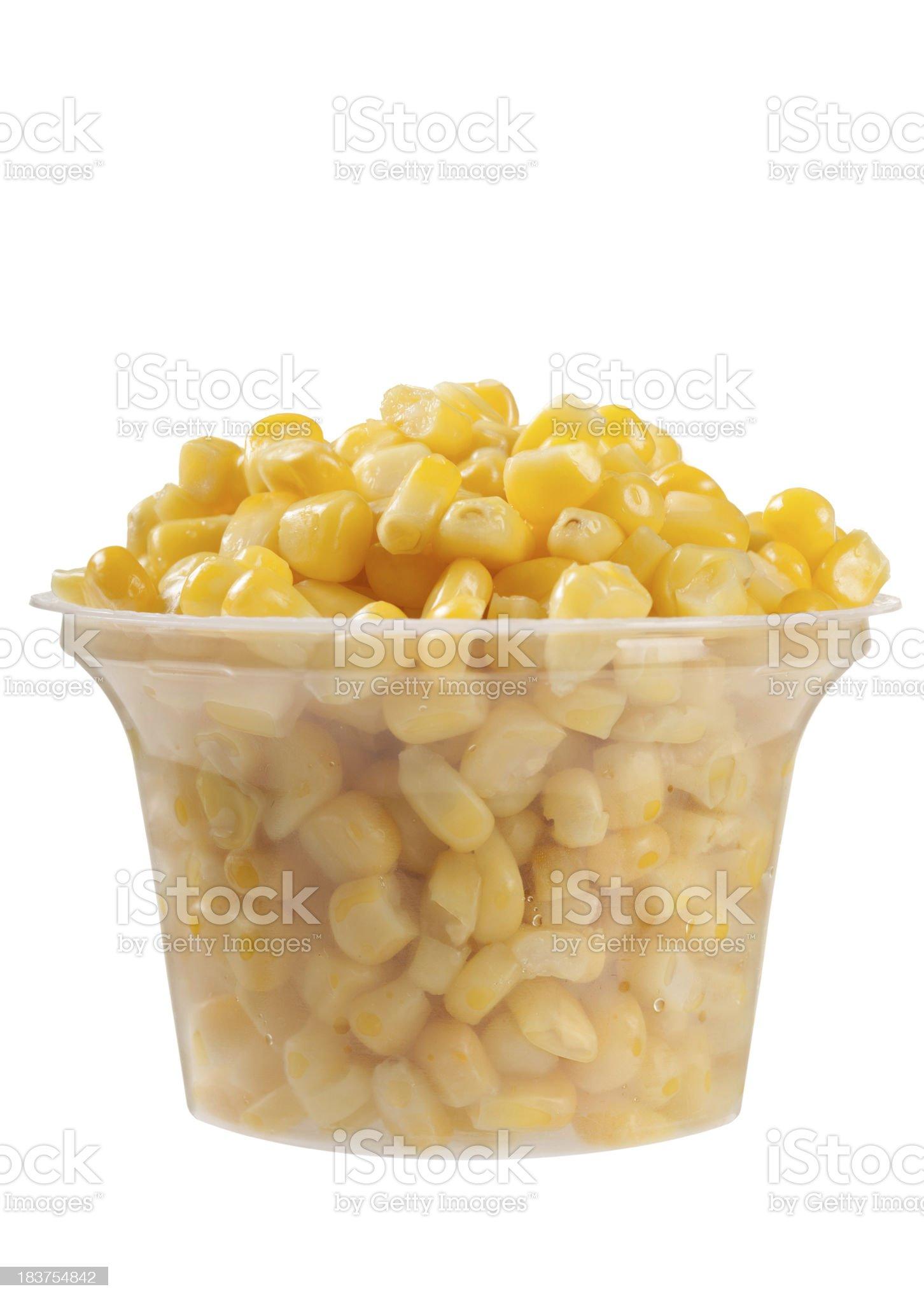 Yellow corn grain in cup royalty-free stock photo