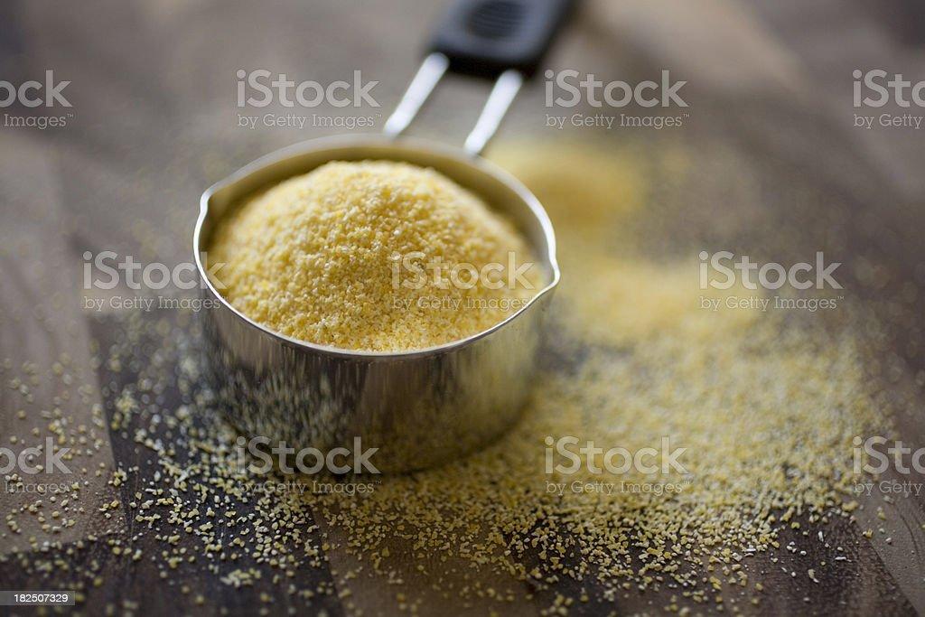 Yellow corn meal stock photo