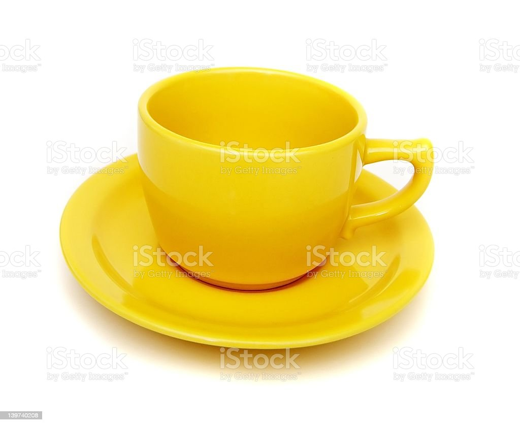 Yellow cup royalty-free stock photo
