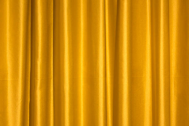 Yellow Curtain Stock Photo