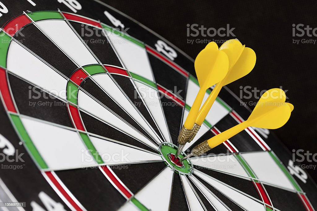 Yellow darts royalty-free stock photo
