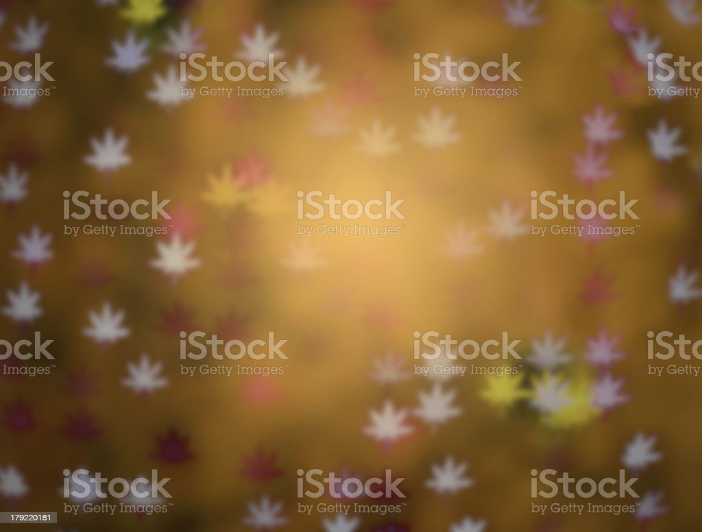 yellow defocused maple leaves, blur focus royalty-free stock photo