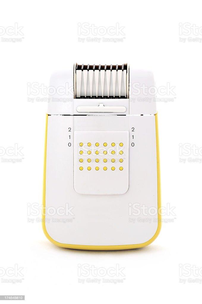 Yellow Depilator royalty-free stock photo