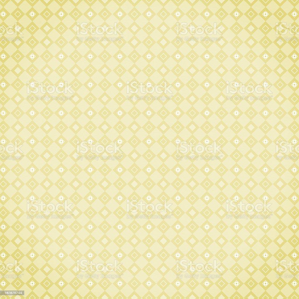 Yellow diamond pattern royalty-free stock photo