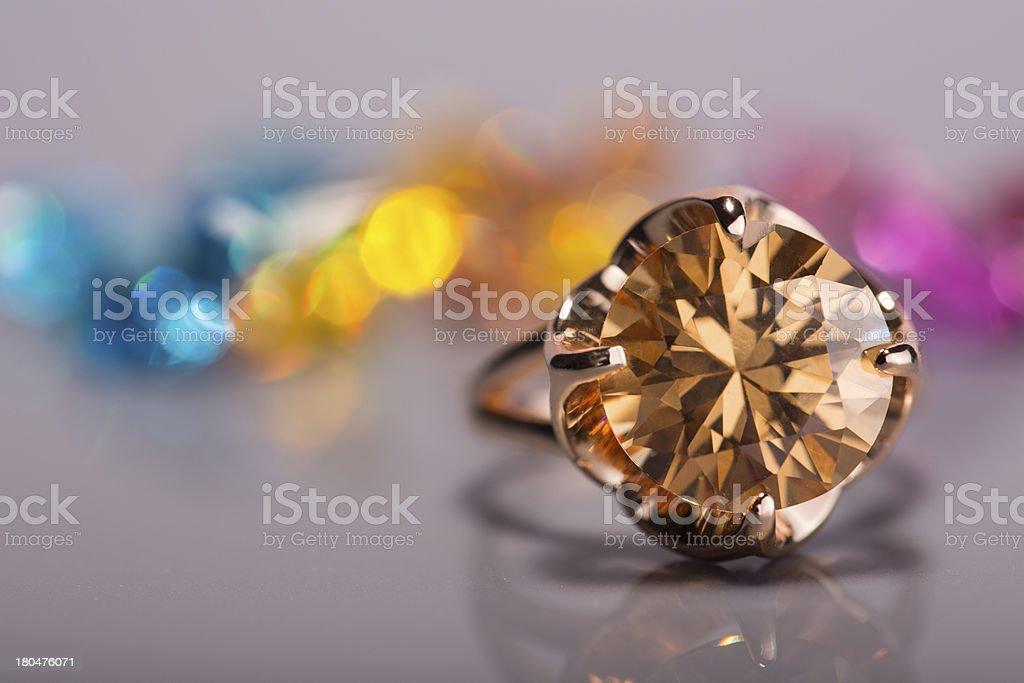 yellow diamond ring royalty-free stock photo