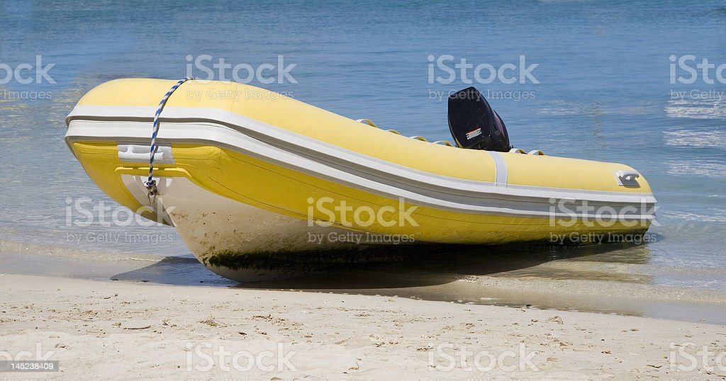 Yellow Dingy royalty-free stock photo