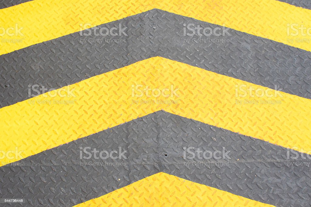 Yellow directional arrows stock photo
