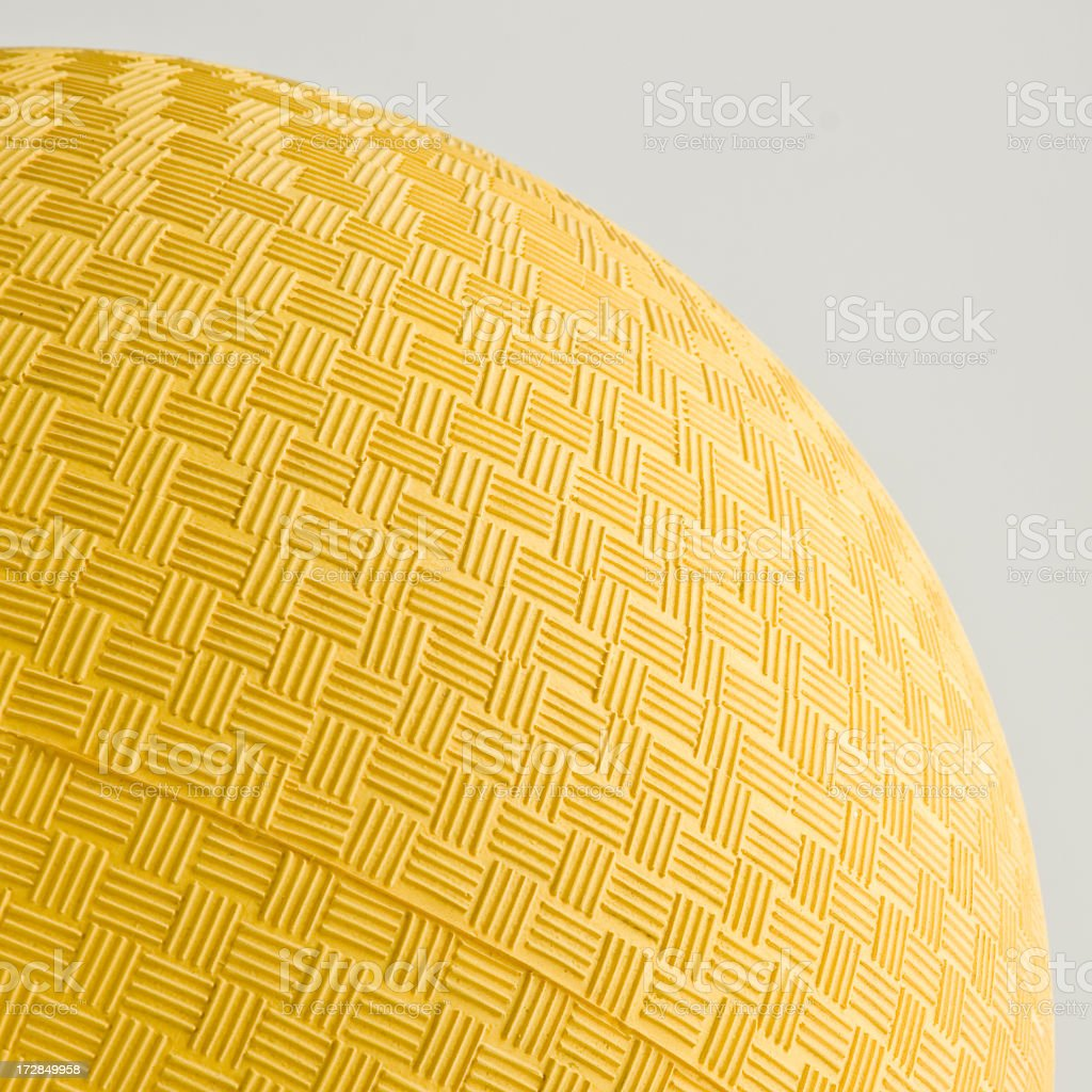 yellow dodgeball stock photo