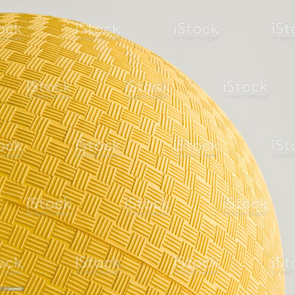 yellow dodgeball stock photo