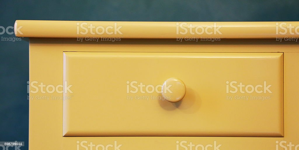 Yellow drawer foto de stock libre de derechos