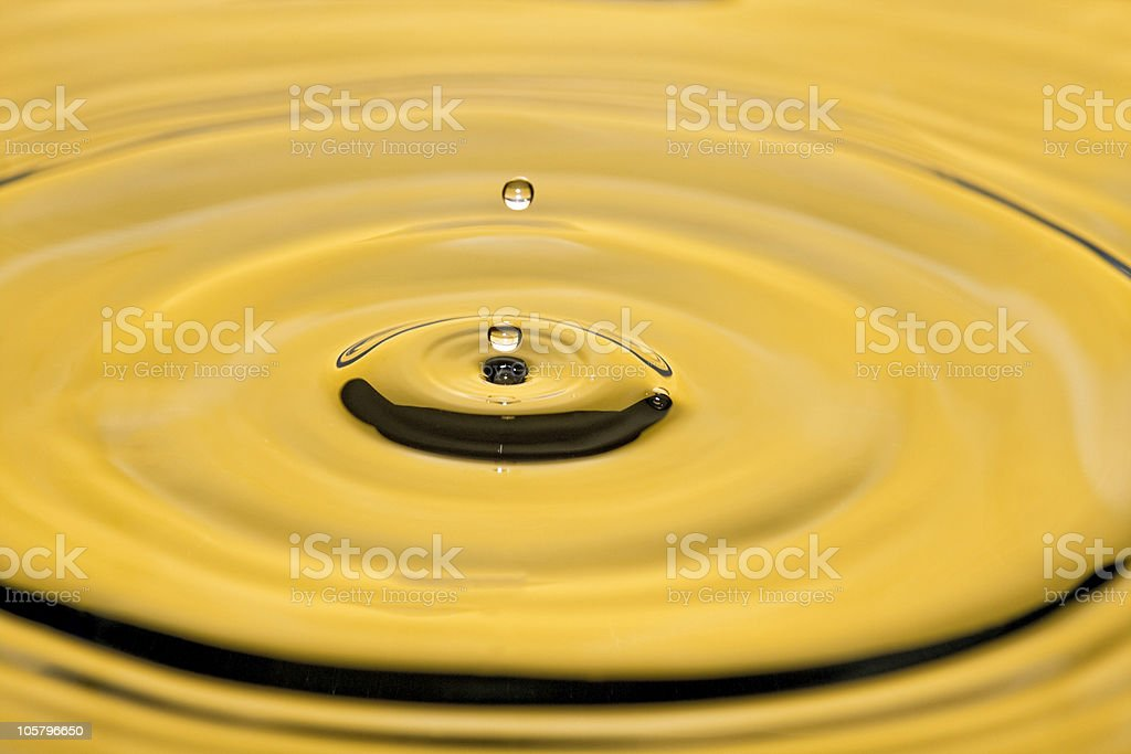 Yellow droplets royalty-free stock photo