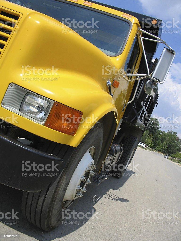 yellow dump truck 2 royalty-free stock photo