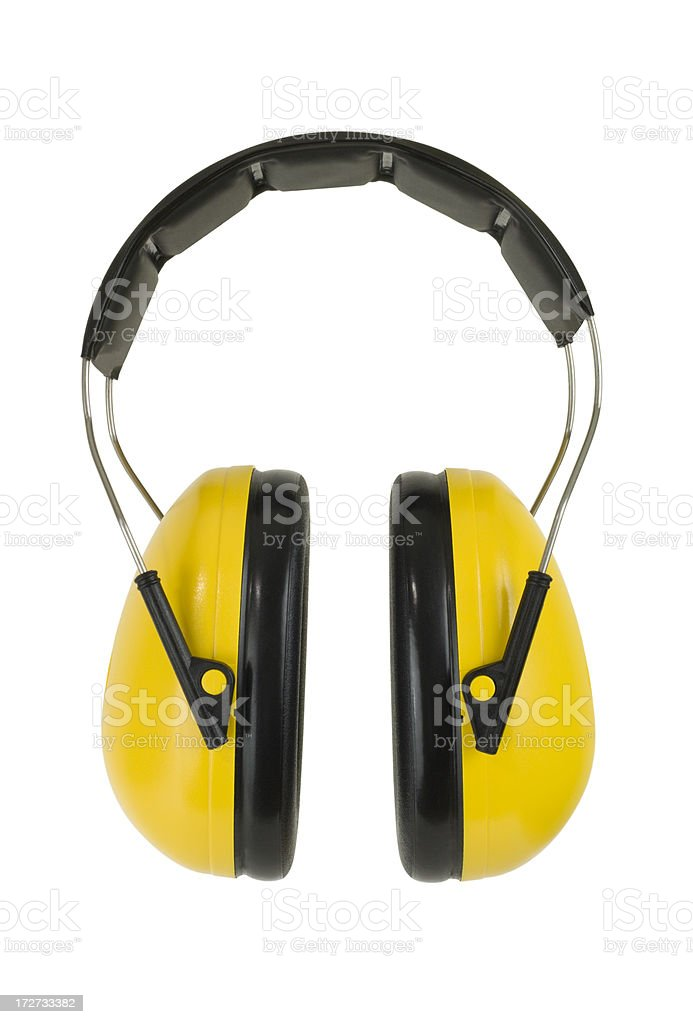 Yellow Ear Muffs royalty-free stock photo