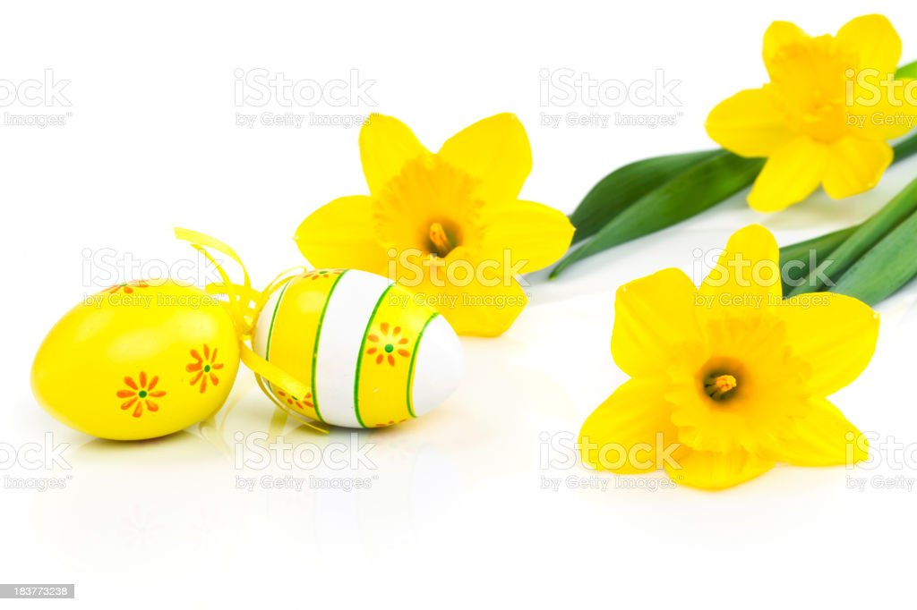 Yellow Easter royalty-free stock photo