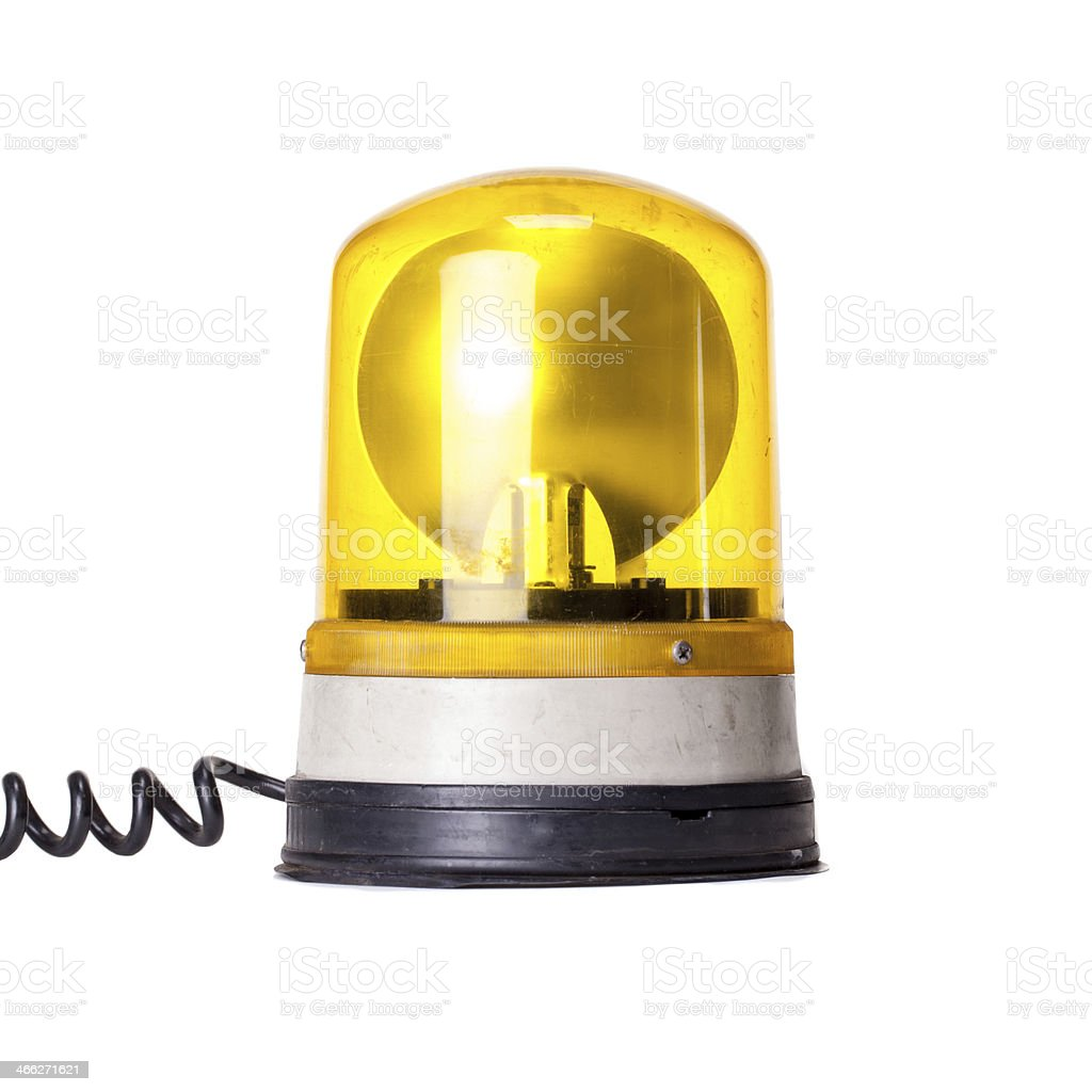 Yellow Emergency Light stock photo