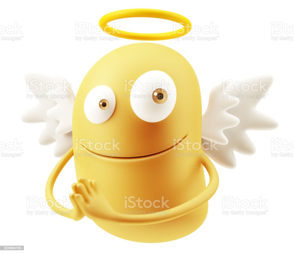 Yellow Emoticon Expression stock photo