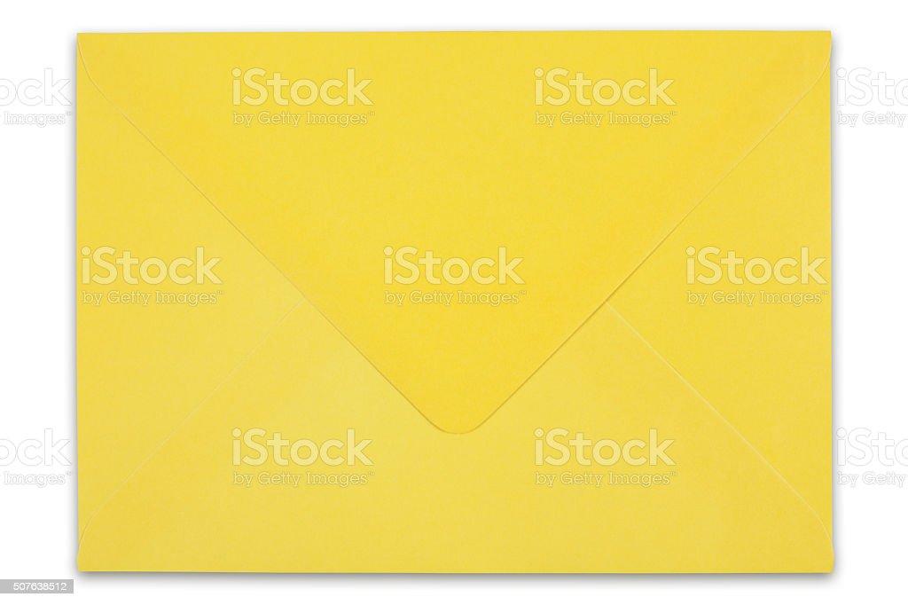 Yellow envelope stock photo