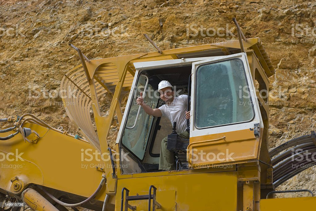 Yellow excavator royalty-free stock photo