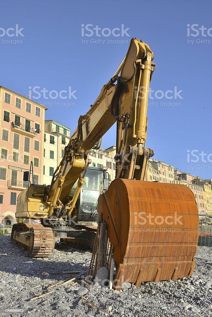 Yellow excavator royalty-free stock photo