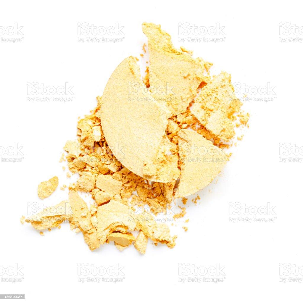 Yellow Eyeshadow royalty-free stock photo