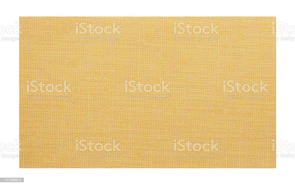 Yellow fabric swatch sample royalty-free stock photo