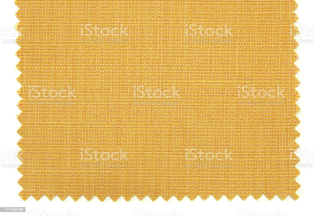 Yellow fabric swatch samples texture royalty-free stock photo