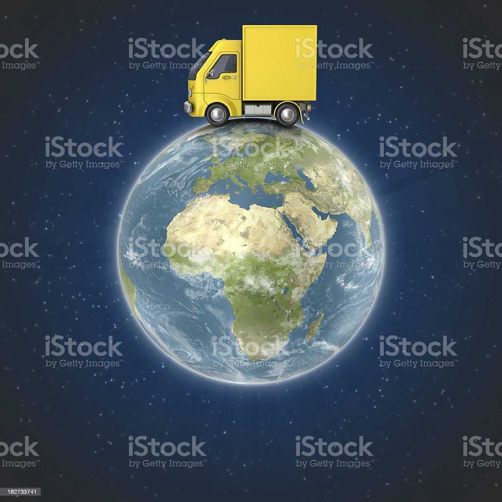 yellow fast delivery royalty-free stock photo