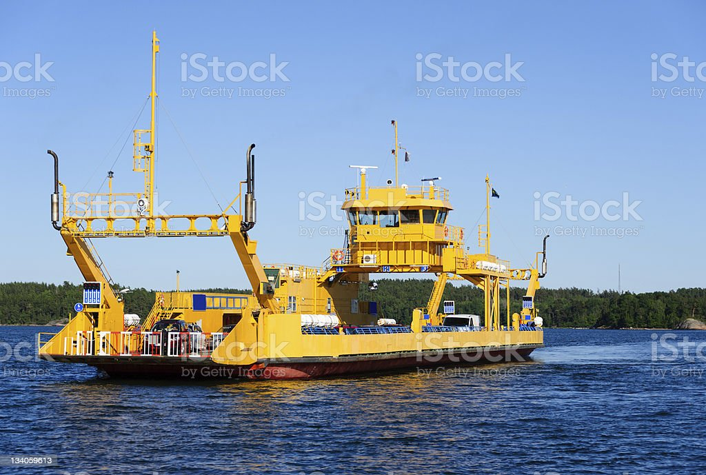 Yellow Ferry stock photo