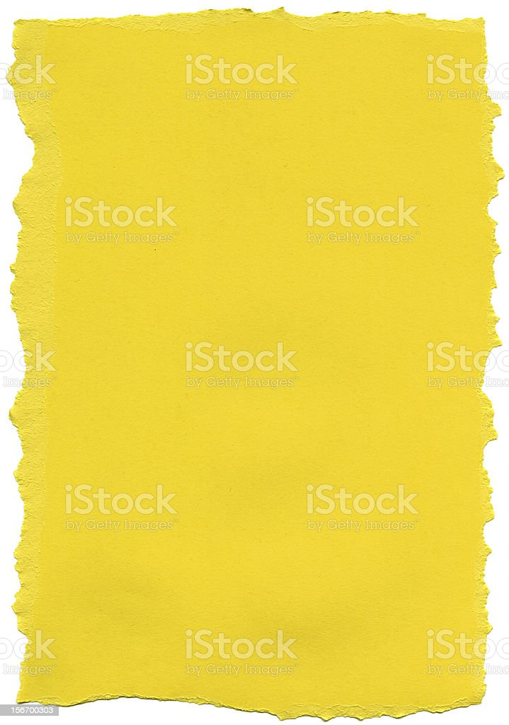 Yellow Fiber Paper - Torn Edges XXXXL stock photo