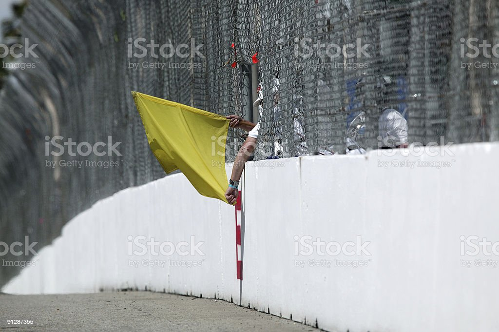 Yellow flag stock photo