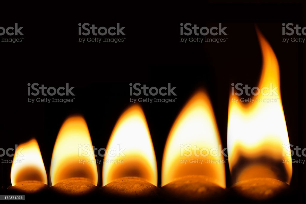 Yellow flames royalty-free stock photo