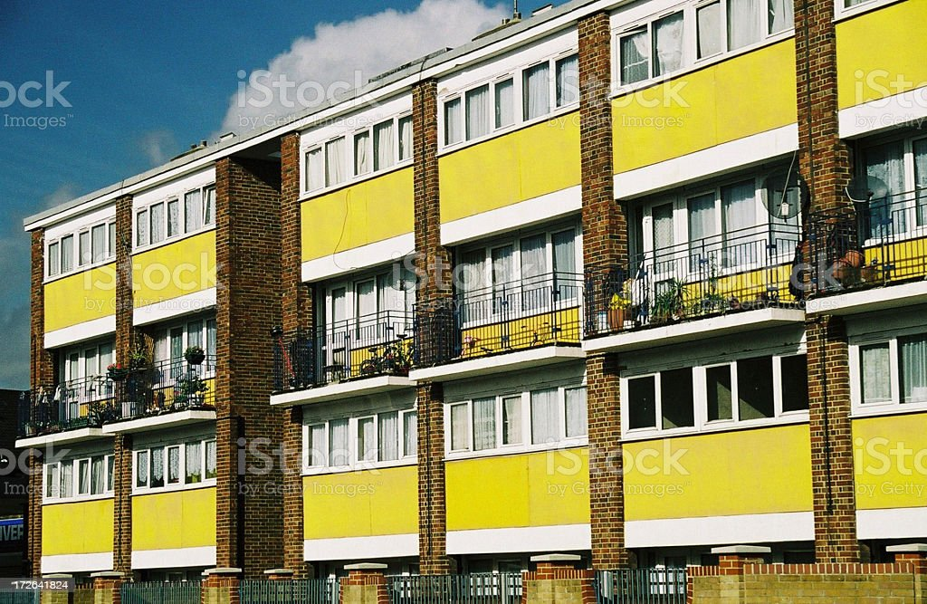 yellow flats stock photo