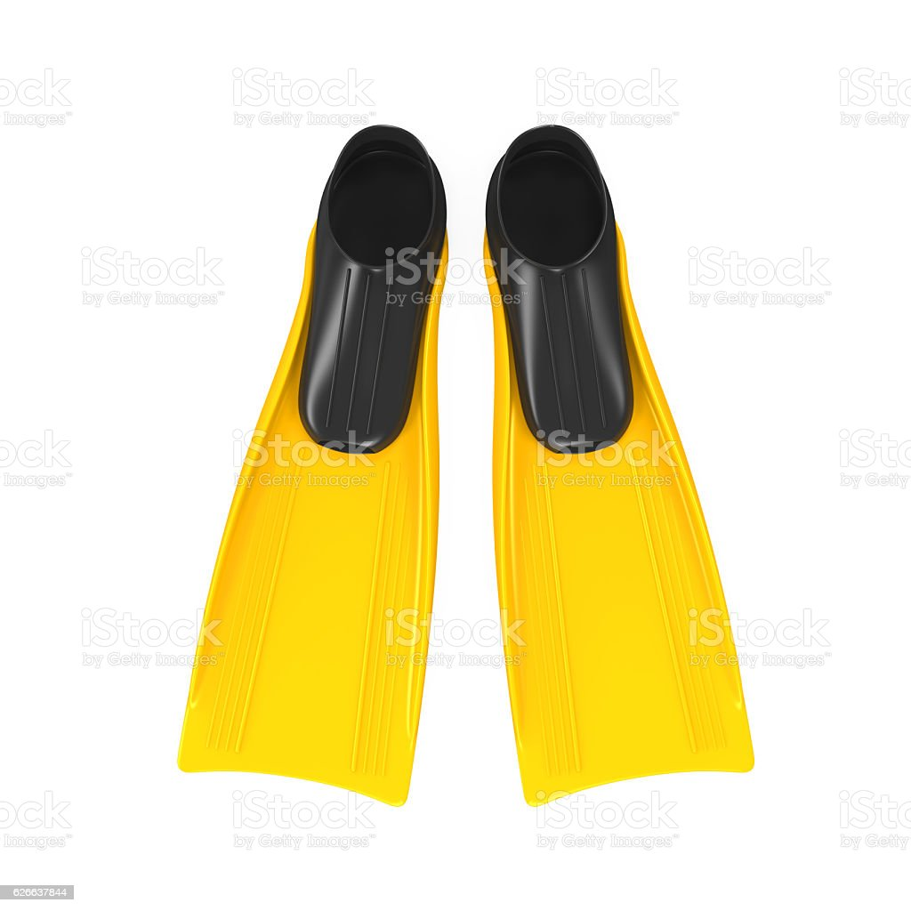 Yellow Flippers Isolated stock photo