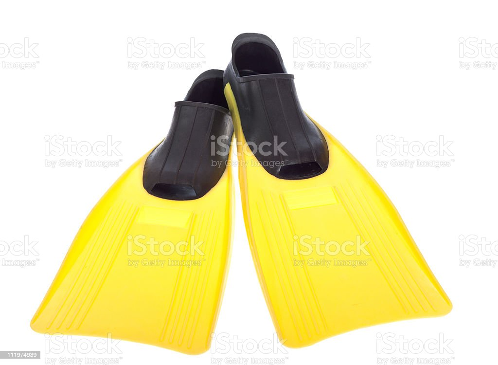 Yellow Flippers stock photo