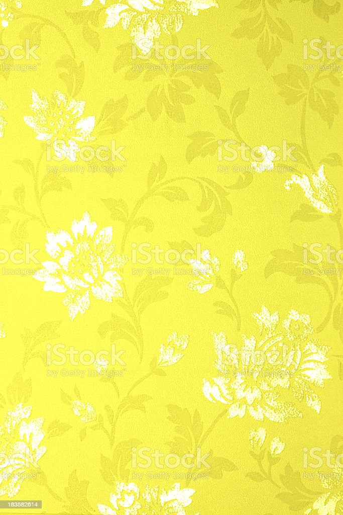 Yellow Floral Pattern royalty-free stock photo