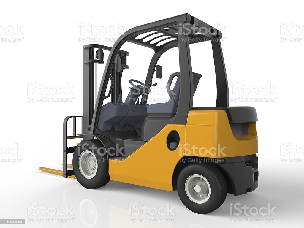 Yellow Forklift Truck stock photo