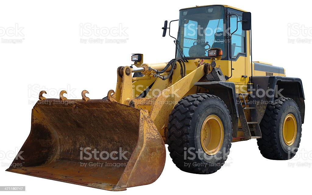 Yellow Front-End Loader stock photo