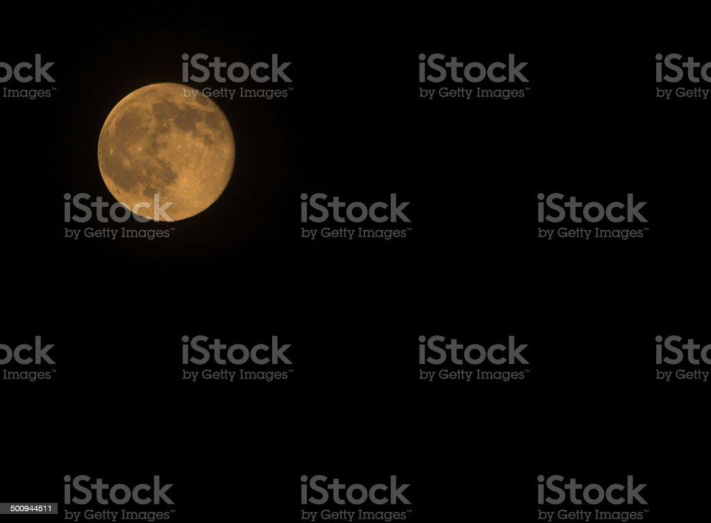 Yellow full moon stock photo