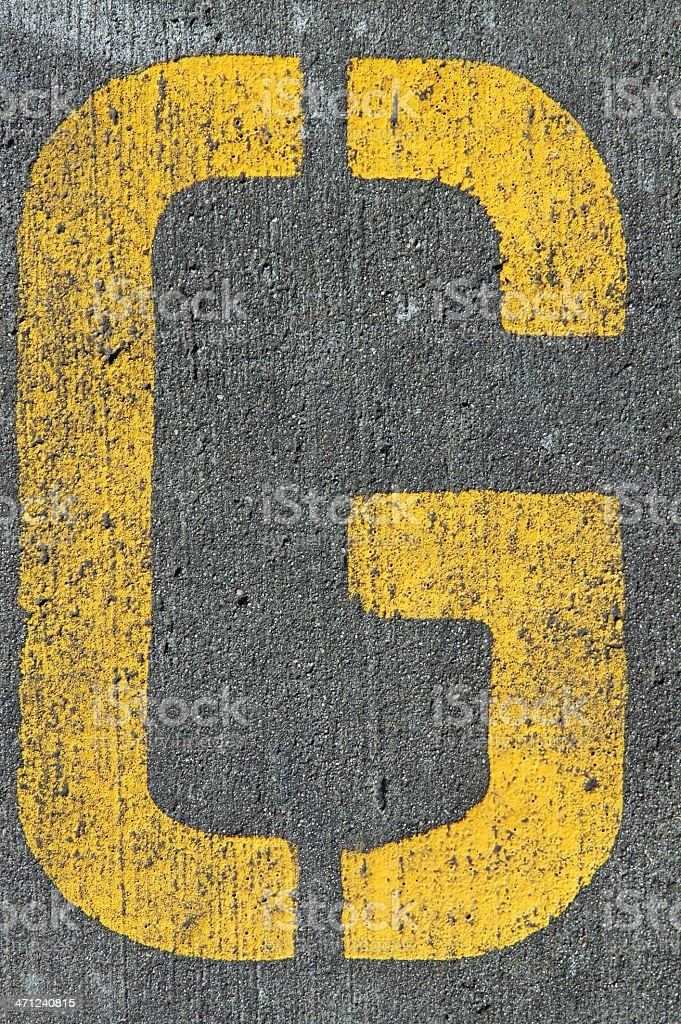 Yellow G stock photo