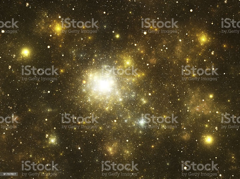 Yellow galaxy stock photo