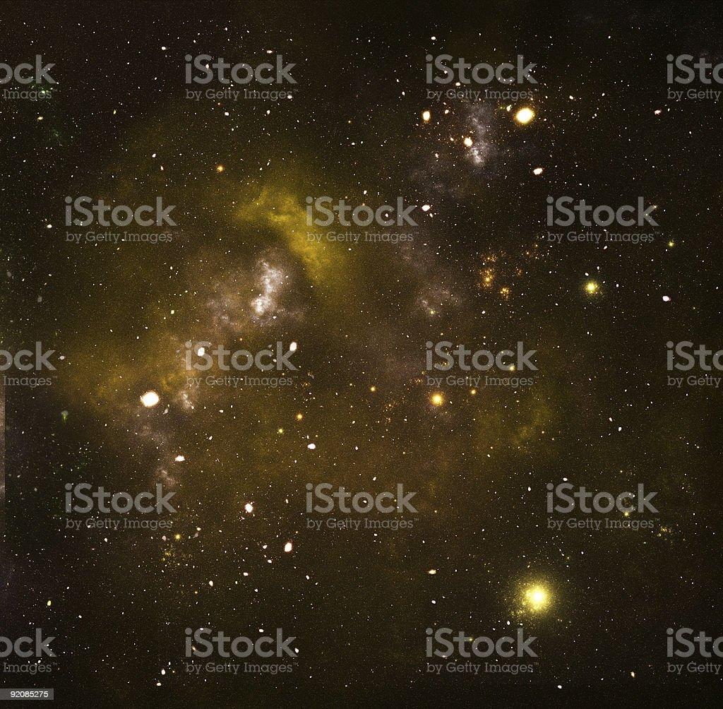 Yellow galaxy royalty-free stock photo